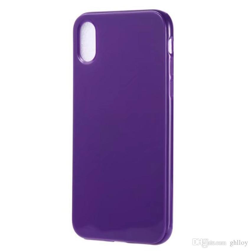Pour iPhone 8 Candy Soft TPU Soft TPU Silicon Case coloré Couverture arrière pour iPhone 8 Cell Téléphone