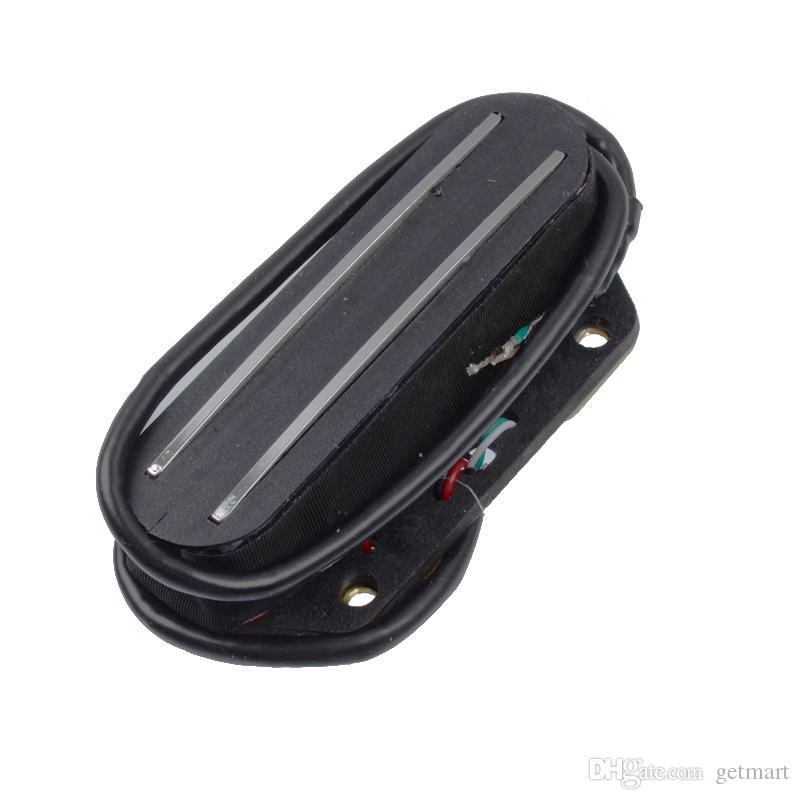 Black with Silver Dual Rail Dual Coill Magnetic Pickup Humbucker for Telecaster Electric Guitar