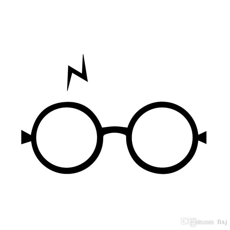 Best 17 711 4cm stylish harry potter glasses for car stickers interesting motorcycle vinyl decals under 7 04 dhgate com