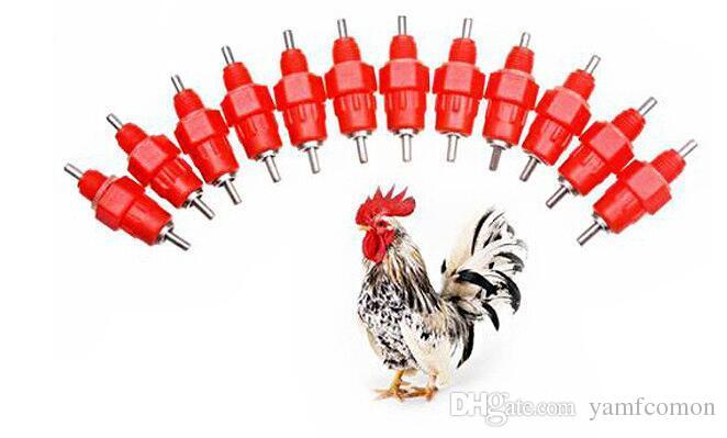 pezón bebedero alimentador tazas de agua bebederos de pollo bebedero 360 ángulo suministros de aves de corral alimentación riego