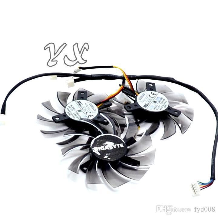 Grafikkarte fanNew GTX460 470 570 580 670 HD5870 Grafikkartenlüfter T128010SM 12V 0.20A Durchmesser 75mm