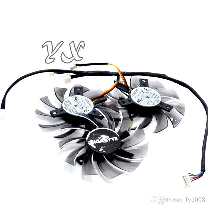 Tarjeta de video fanNew GTX460 470 570 580 670 HD5870 Tarjeta gráfica ventilador T128010SM 12V 0.20A diámetro 75mm