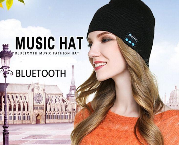 Bluetooth Beanie Soft Warm Music Cap Stereo Wireless Hat Headphone Headset Speaker Microphone Handfree With Package