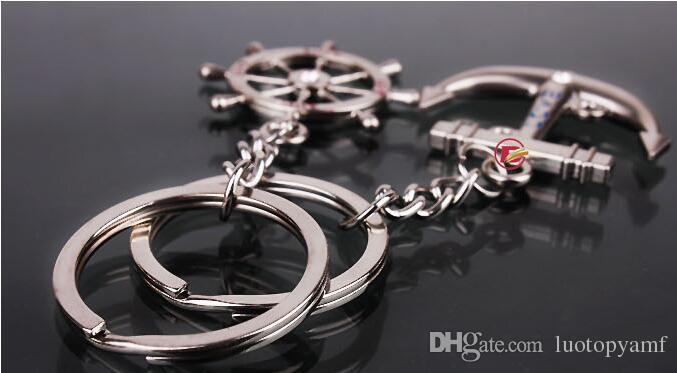 Chaînes de clés en acier inoxydable amant Couple de porte-clés