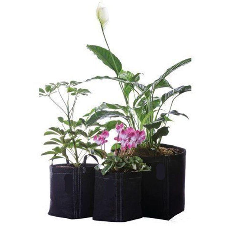 Non Woven Grow Bag Pflanzen Fabric Töpfe Pflanze Beutel Root Container Belüftung Blumentopf Garten Tasche Pflanzer Firm Blumentopf Kreative 16js10