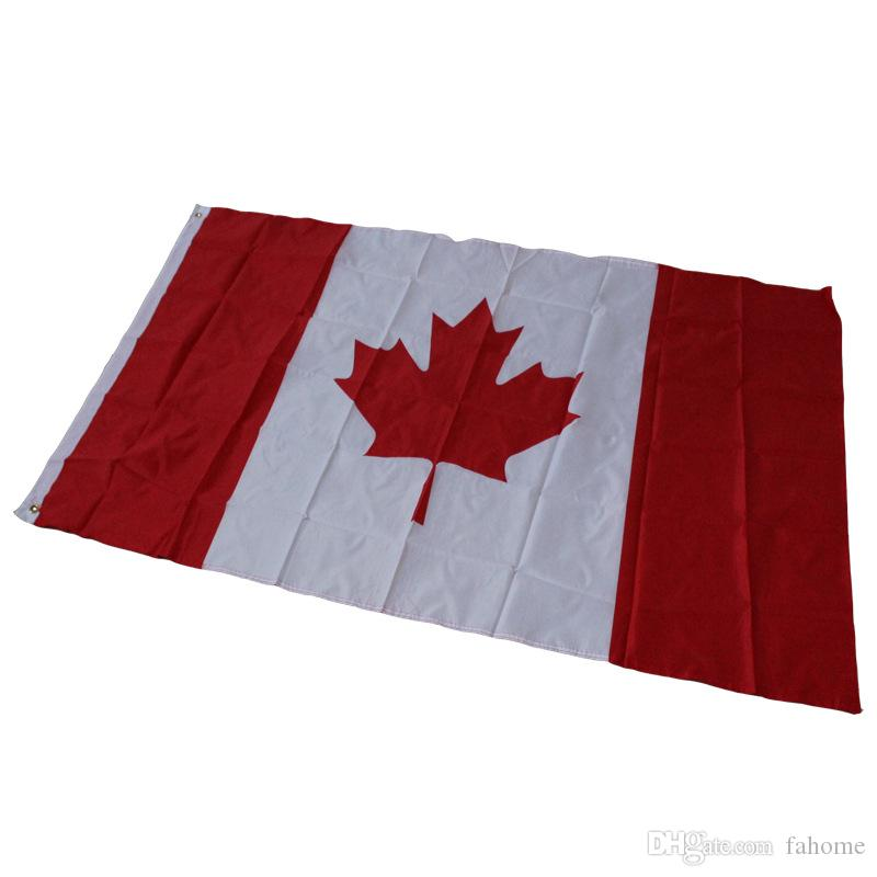 online cheap 87 148cm canada flag banner hanging canada country