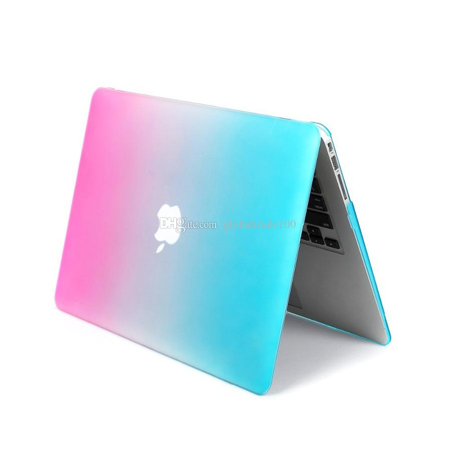 Fashion Matte Rainbow Hard Protector Laptop Case For Macbook 11.6 13.3 15.4 Air Pro Retina Full Protective Cover Case