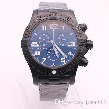 Dhgate Top Store Jason007 Luxury Brand Watches Men Black Dial Full Black Watch Avenger Seawolf Chrono Quartz Sports Watch Men Dress Watches