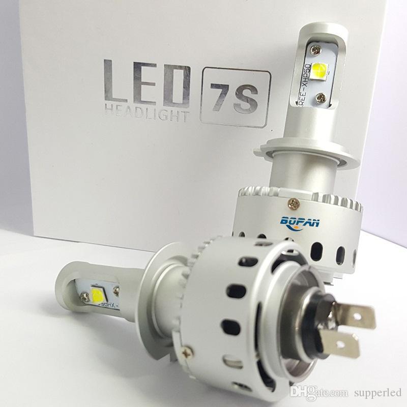 7S H7 led cob headlight auto part Car led Headlight bulbs COB CREE chip Headlights fog light head Lamp