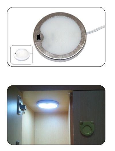 Sensore IR incorporato DC 12v 3W con LED tipo 3014, LED Puck / Luce cabinet, Faretto LED