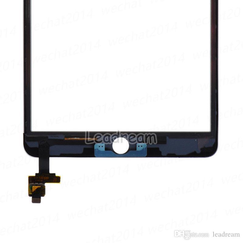 Оригинальный сенсорный экран стеклянная панель с дигитайзером с разъемом IC для iPad Mini 3 Черный и белый бесплатная доставка