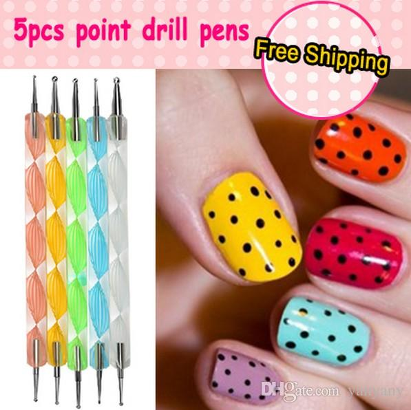 3d Magnetic Dots Pen Nail Art Tools For Manicure Dotting Tool Nail ...