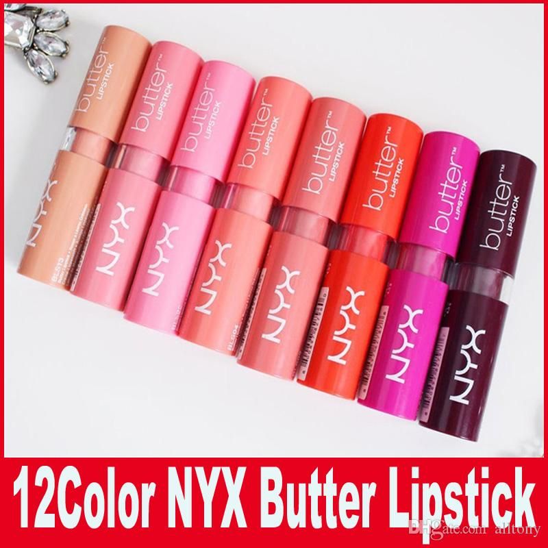 nyx professional makeup lipstick. new lipstick nyx butter long lasting lip gloss professional makeup liptstick best nude brown from alltony,