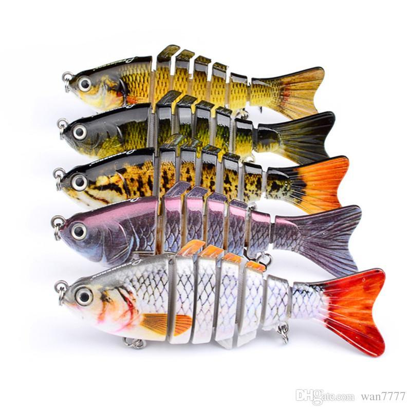 5-couleur 10cm 15.5g Multi-section Poisson En Plastique Dur Appâts Leurres Crochets De Pêche Fishhooks 6 # Crochet Appâts Artificiels Pesca De Pêche S'attaquer