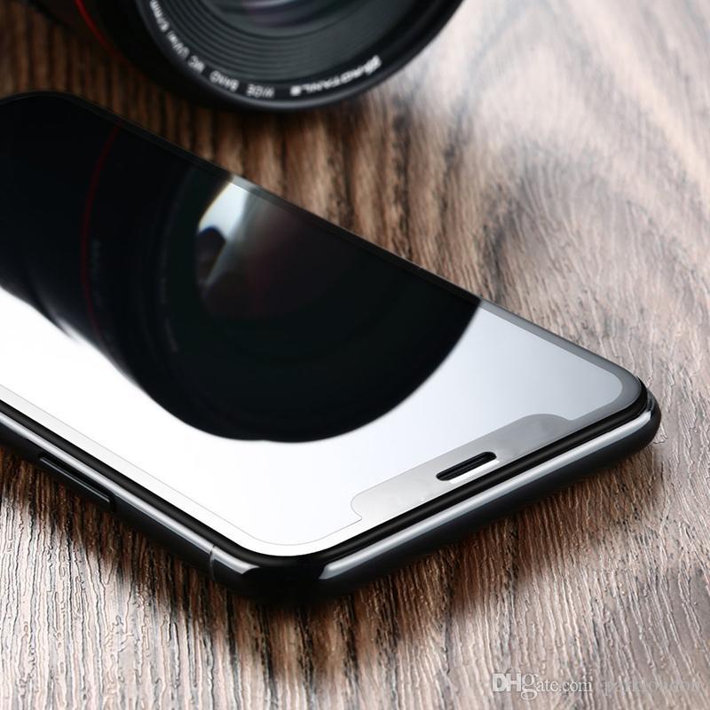 2017 für iphone x 8 plus gehärtetes glas displayschutzfolie 0,2mm 3d fullscreen gehärtetes glas anti-splitter hohe qualität
