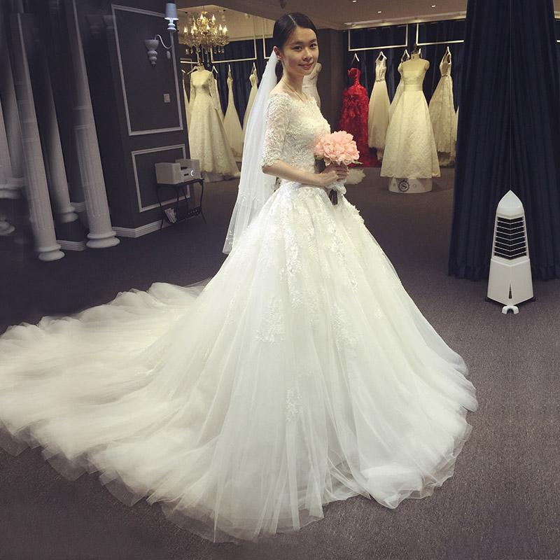2017 new korean wedding dress wedding dress bride long