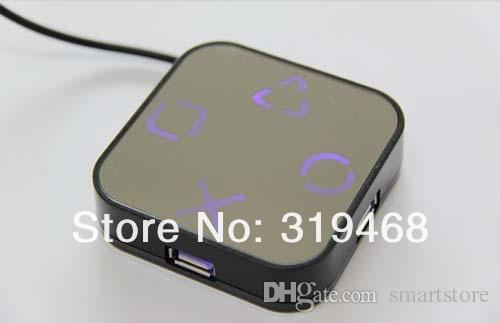 / RA haute vitesse 4 ports USB 2.0 HUB Splitter câble adaptateur Magic Mirror Design livraison gratuite 0001