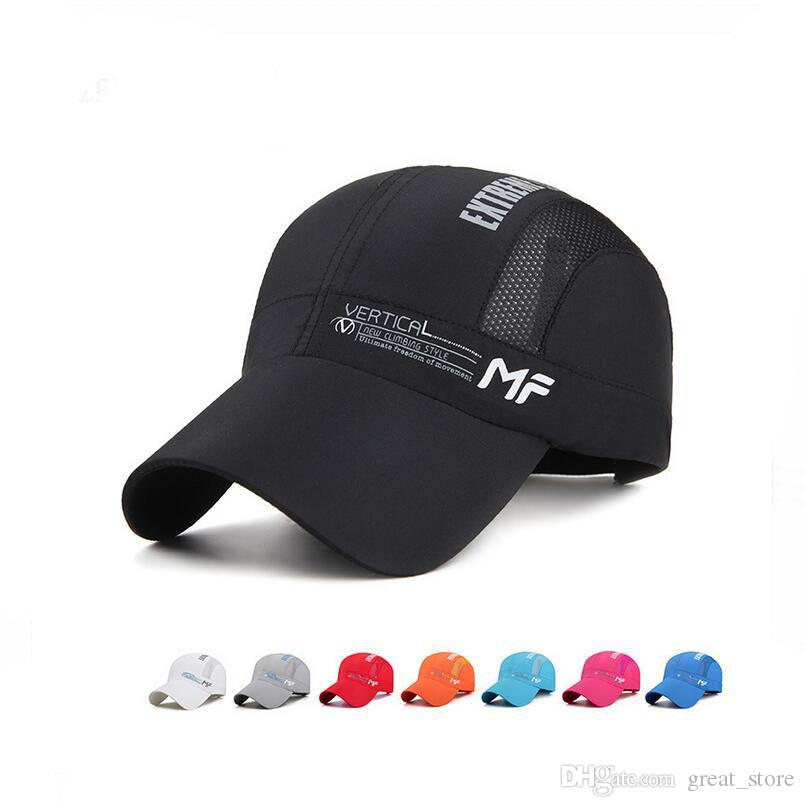 d899fc09c28 New Arrival 2017 Spring And Summer New Men S Speed Dry Hat Fashion Leisure  Outdoor Baseball Cap Breathable Letter Ladies Net H M124 With Box  Richardson Caps ...