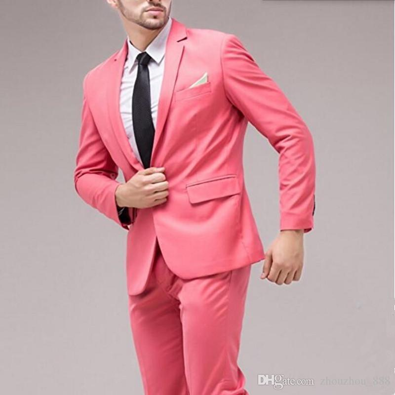 Latest style men suits blue men wedding suit tuxedos for men solid color one button groom best man dress suitsjacket+pants
