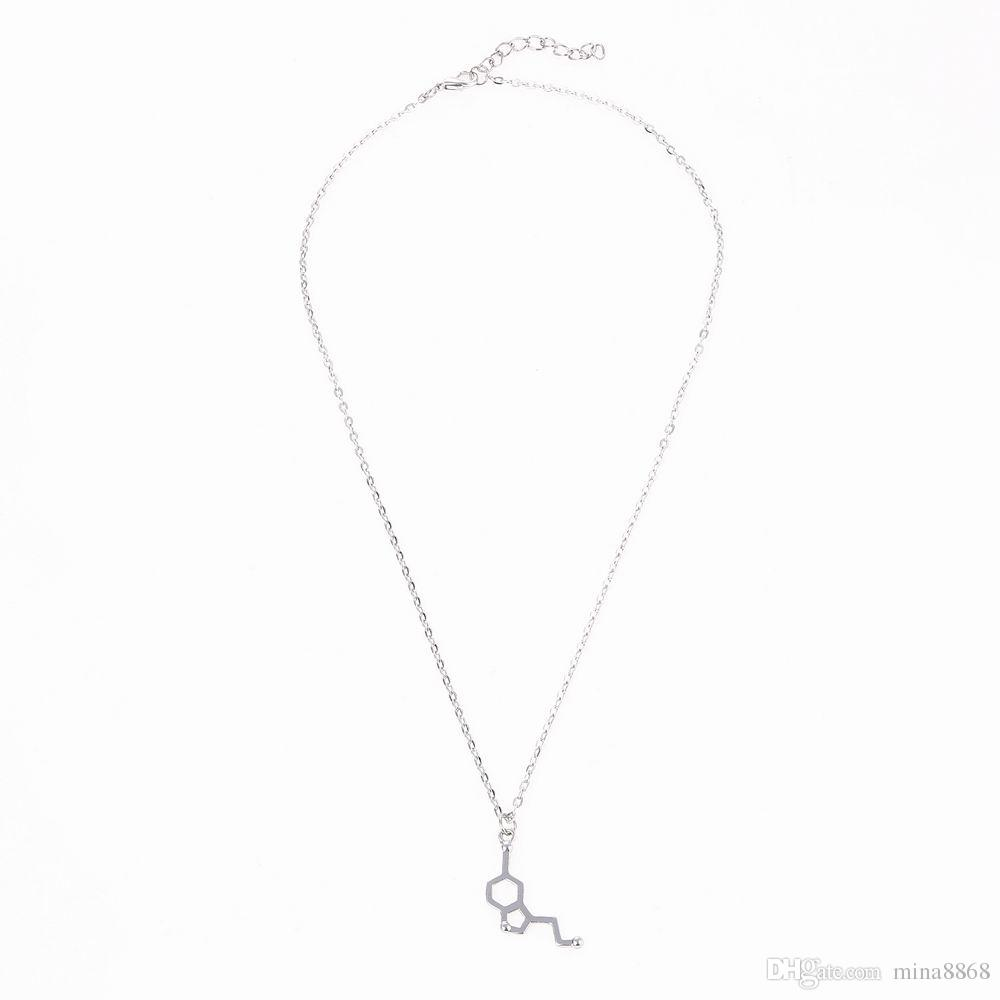 new design simple geometric necklace alloy wild chemical element necklace for women men kewelry gift wholesale