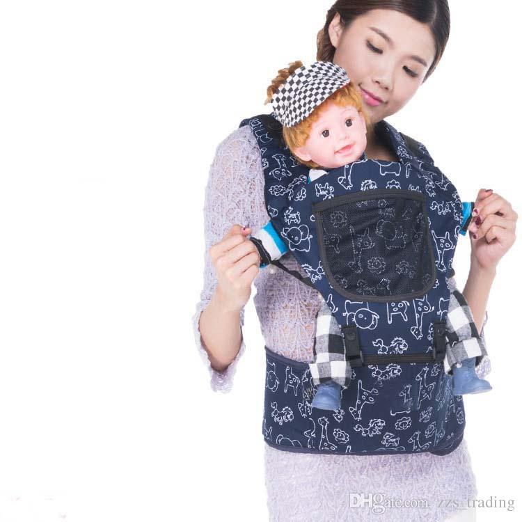 2-36 mois porte-bébé hanche siège 2 en 1 dessin animé coton bébé sac à dos enfants épaules porter bébé kangourou porte-jarretelles fronde wrap