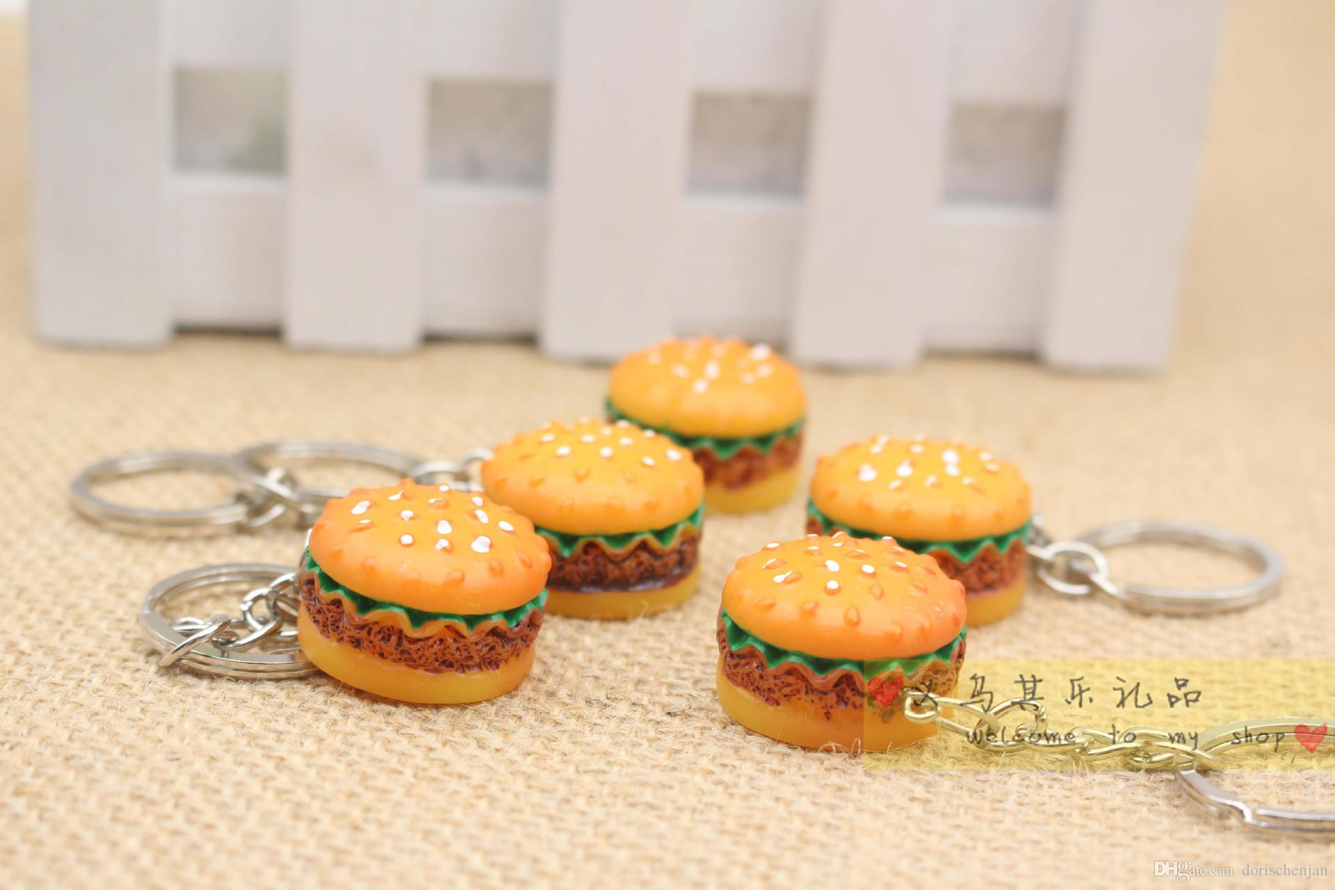 KeyChains Rings bag Trinket Soft ewsin Keychain Minions Marines mini hamburger Key Holder Key Chains Phone Accessories Gift
