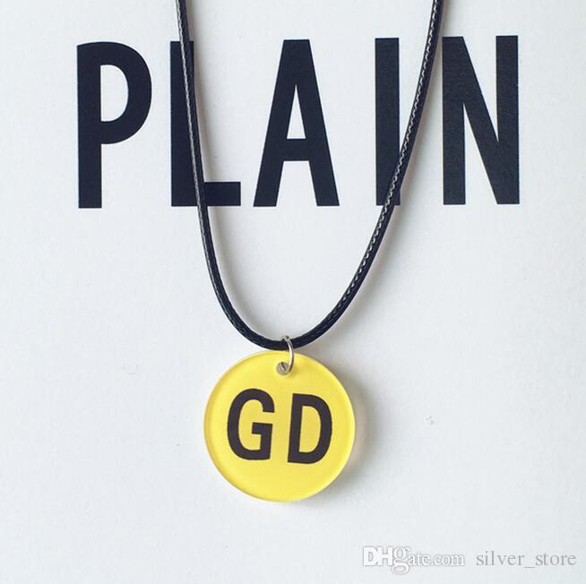 Melhor presente Harajuku bonito amarelo infantil smiley face bigbang pulseira colar WFN459 com corrente misturar a ordem de 20 peças muito