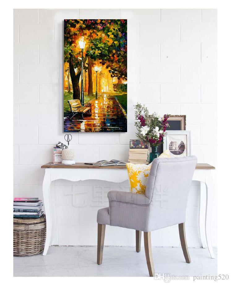 Yüksek Kalite Modern Oturma Odası Odası Basit Dekoratif Tarzı Tuval Yağlıboya El Boyalı Palet Yağlıboya JL428