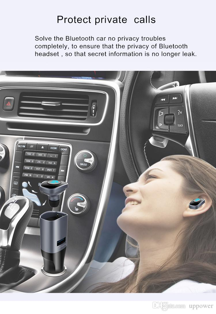 CarBest Bluetooth Wireless FM Transmitter Radio Adapter Handsfree USB Car Charger, MP3 Player Music Control Calling BC16