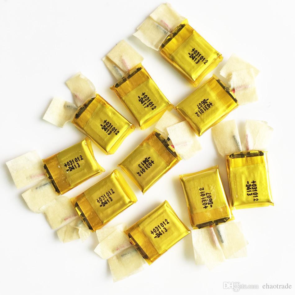 Commercio all'ingrosso 3.7 V 30 mAh 301012 Li-polymer batteria ricaricabile ai polimeri di litio Lipo Mp3 Mp4 PAD DVD FAI DA TE auricolare bluetooth Giocattoli cuffia