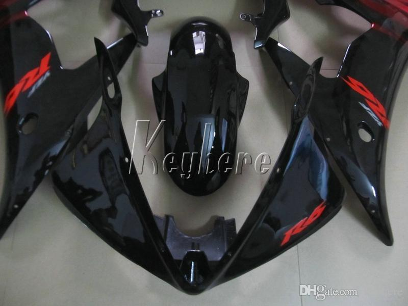 Aftermarket body parts fairing kit for YAMAHA R6 2003 2004 2005 wine red black fairings set YZF R6 03 04 05 IY06