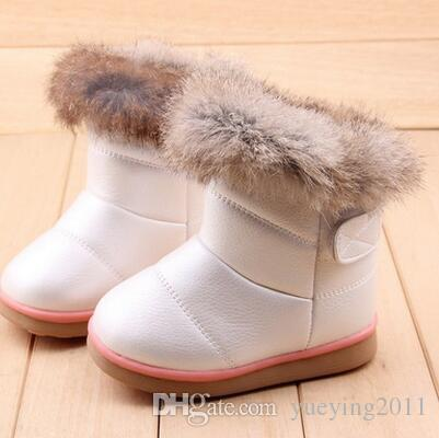 New Winter Fashion Child Girls Snow Boots Shoes Warm Plush Soft ... 2efa6ee9c09d
