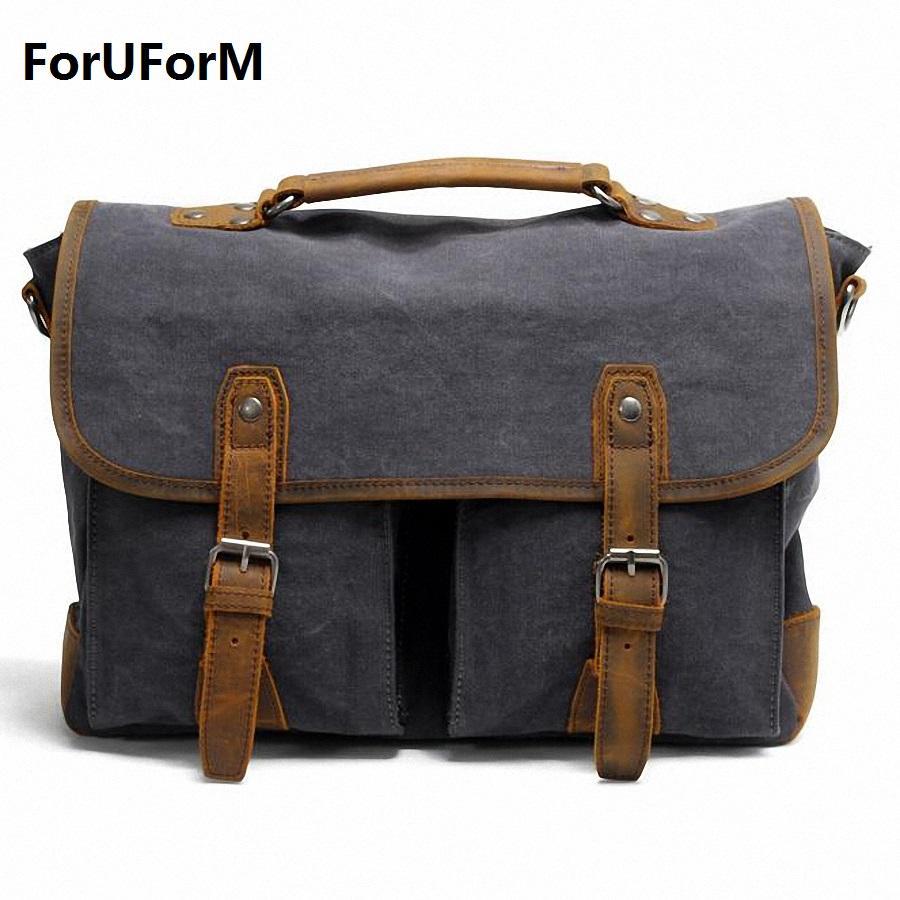 937ad77494 Wholesale Retro Men 15inch Laptop Briefcase Business Shoulder Bag Canvas  Messenger Bags Man Handbag Tote Bag Casual Travel Bag LI 1682 Mens Handbags  Work ...