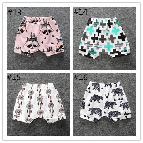 Baby Harem Shorts, Toddler Harem Shorts - 16 designs available INS geometry designs/fox/bear/triangle /feather/