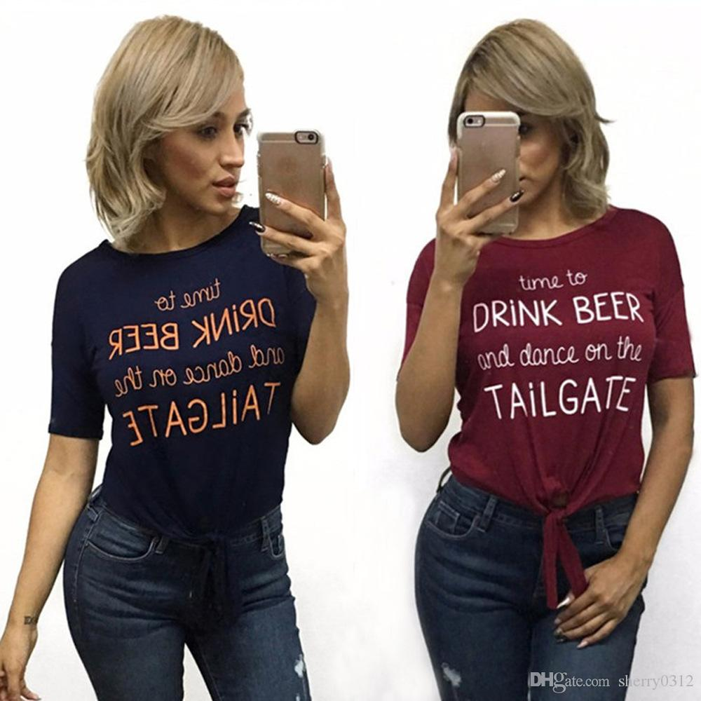 4476414335661 2017 New arrival fashion sleeveless round neck T shirt Ladies Solid Color  lace up T-shirt big girls Fashion Printed Letter T Shirt Tops