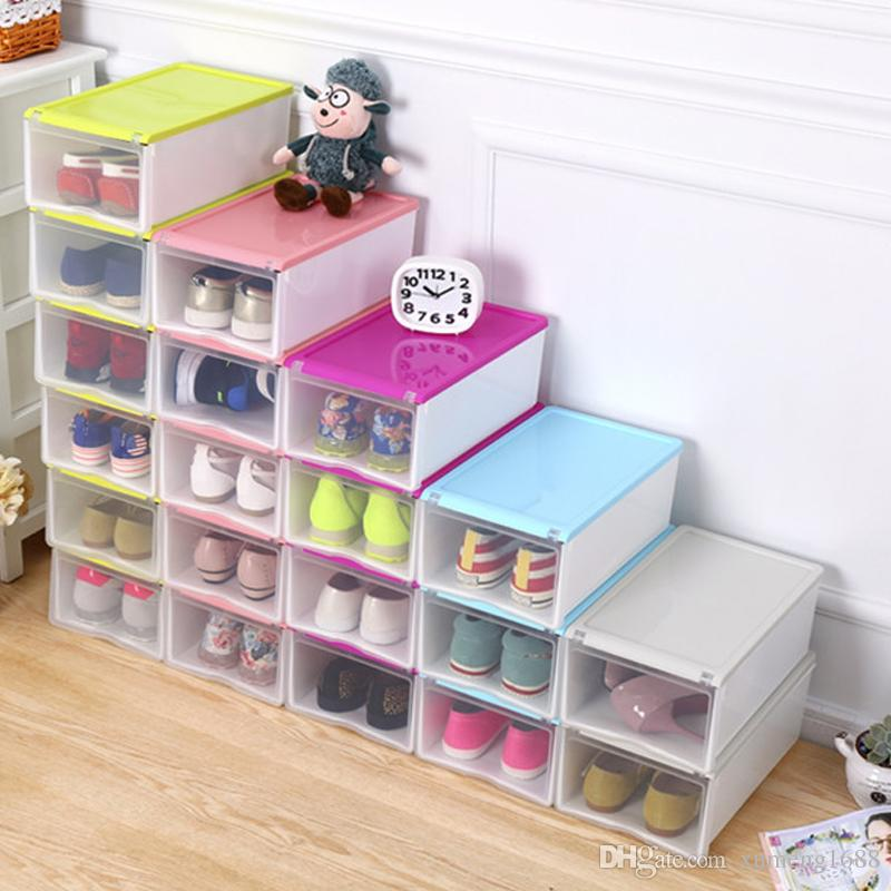 Empty Shoebox Plastic Transparent Shoes Storage Box Container Household DIY Shoe Organizer Empty Plastic Shoebox Storage Boxes Shoes Storage Box Container ...  sc 1 st  DHgate.com & Empty Shoebox Plastic Transparent Shoes Storage Box Container ...