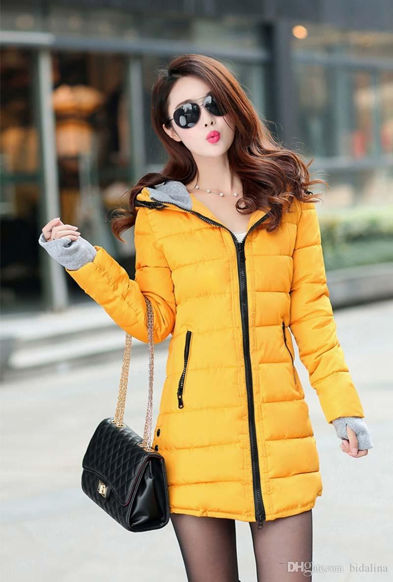 f3d146703e51 Women S Hooded Cotton-Padded Jacket Winter Medium-Long Cotton Coat ...