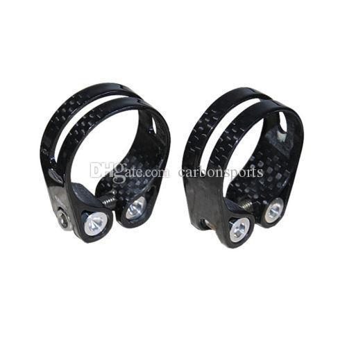 Hochwertige Sattelstützenklemme 3K glänzend Vollcarbon-Sattelstützenklemme für Straßen- / MTB-Fahrradsattelstütze Fahrradteile