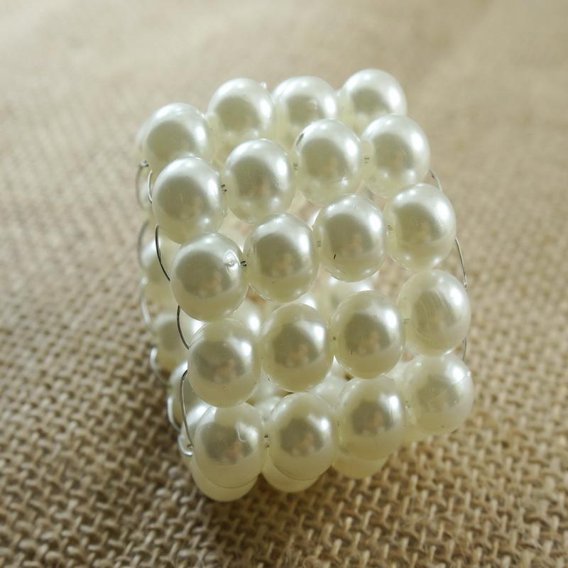 Wholesale Pearl Beades Napkin Rings Decoration Wedding ...