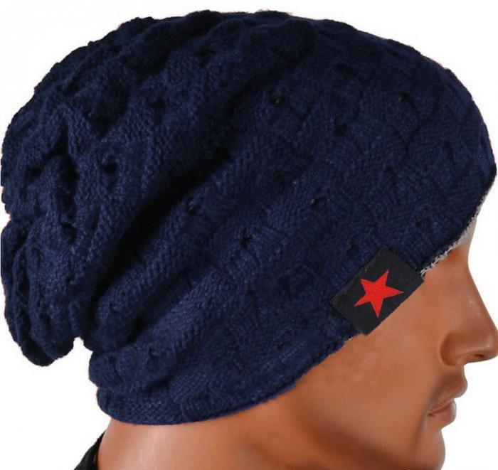 الشتاء الدافئ جديد أزياء الرجال الجمجمة مكتنزة المرأة حك قبعة عكسية فضفاضة كاب الدافئة للجنسين قبعة B275