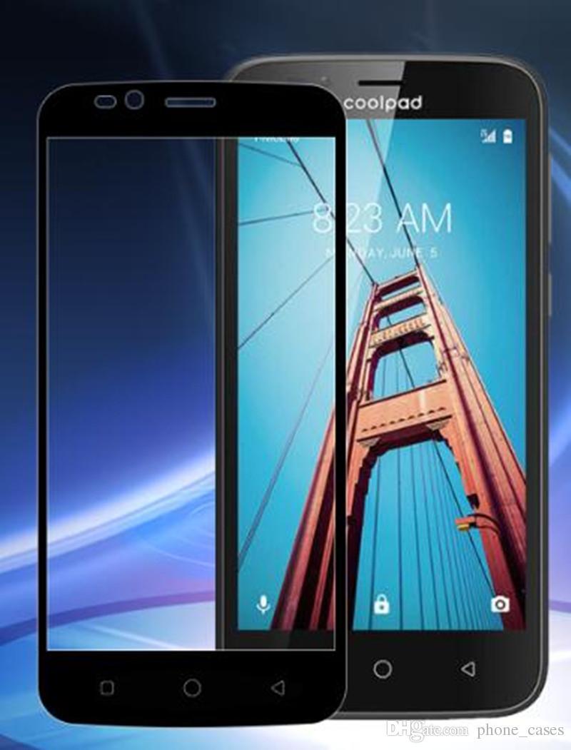 3D Tam Kapak Temperli Cam Ekran Koruyucu Coolpad Defiant Için ZTE Blade Z Max Z982 Metropcs LG Aristo 2 Metropcs lg Stylo 3 Artı