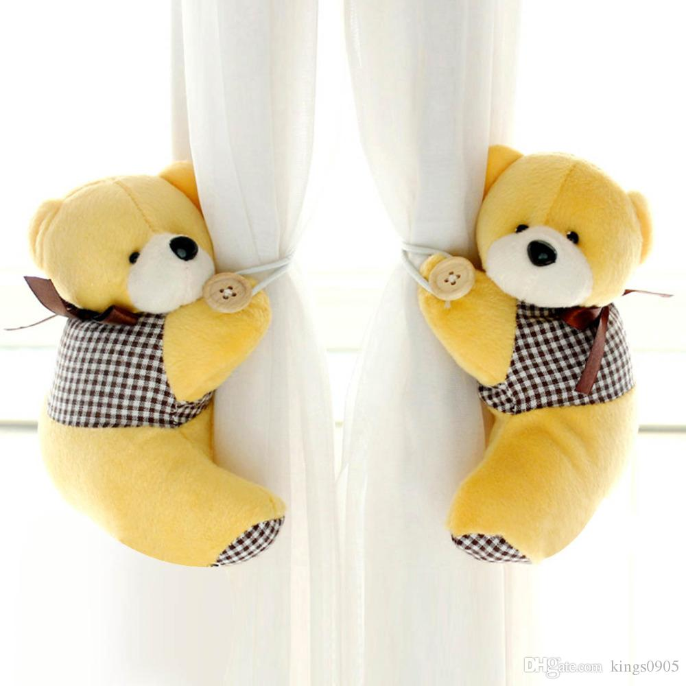 2774a6be41b 2019 Pretty Cute Baby Kid Cartoon Bear Holder Nursery Bedroom Curtain  Tieback Buckle Hook  Wholesales From Kings0905