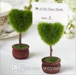 Wedding Favor Topiary Tree Photo and Place Card Holder Wedding Table Decoration