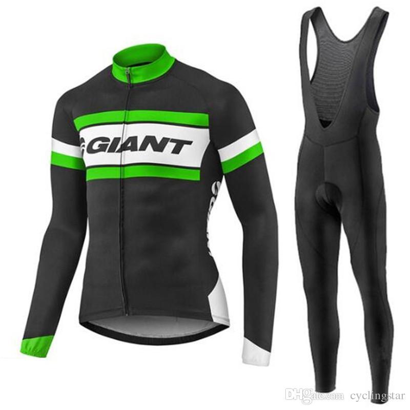 New Ropa Ciclismo GIANT cycling jerseys Mountain Bike clothes MTB Long Sleeve shirts+ Bib Pants set Tour de France bicycle clothing M2203