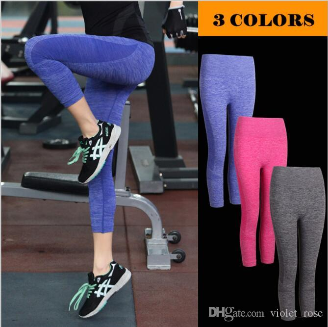 919c2e8289dfd 2019 S M L Women Bottoms Yoga Pants Perfect Leggings Blue/Pink/Grey Capri  Leggings WA09 From Violet_rose, $12.07 | DHgate.Com