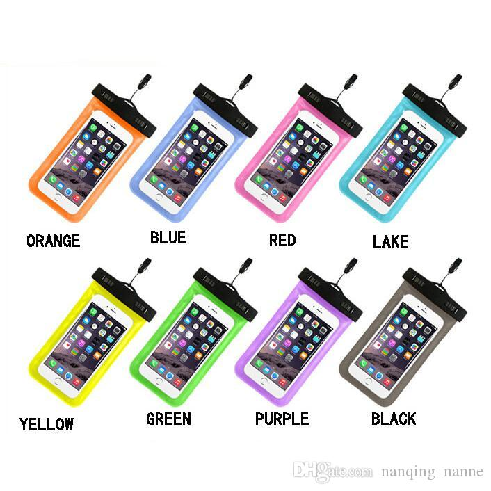 Universal For iphone 7 6 6s plus samsung S7 Waterproof Case bag Cell Phone Water proof Dry Bag for smart phone up to 5.8 inch diagonal