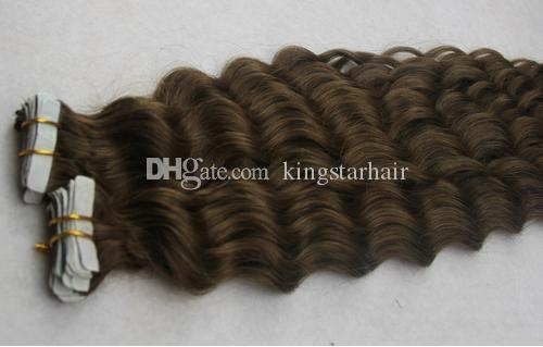 4dark brown 14 30 6a deep curly tape hair extensions 100 hair extensions 100 brazilian human tape hair extensions 100g skin weft tape hair extensions hair extensions weft remy adorable hair from kingstarhair pmusecretfo Choice Image
