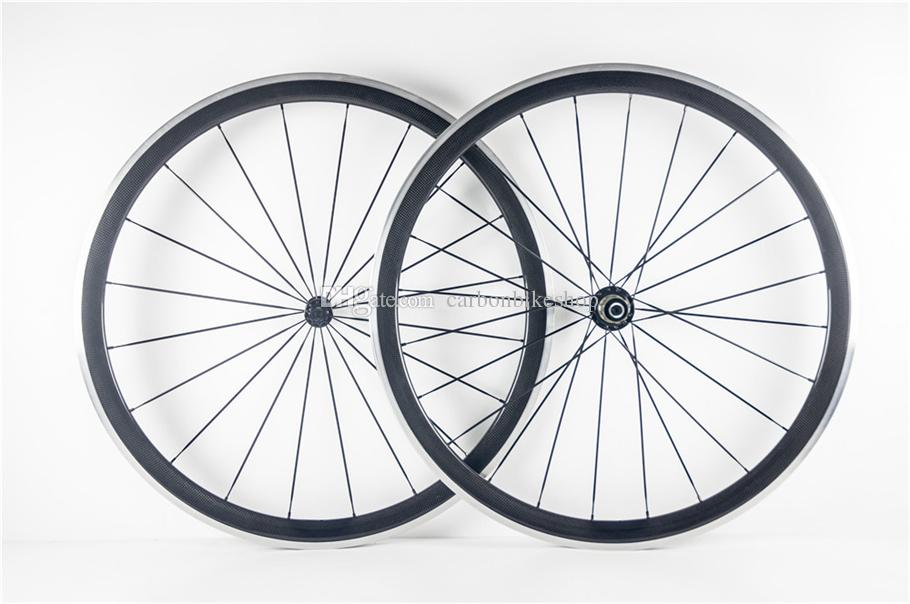 Factory sale cheap and Good quality 3K/UD/1K road bike 38mm carbon alloy wheels with 23mm Novatec A271 hubs