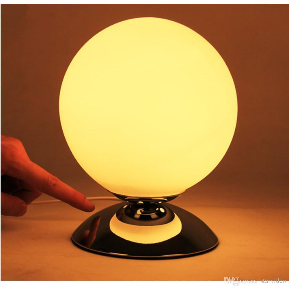 Discount creative bedside lamp glass lampshade small ball table lamp discount creative bedside lamp glass lampshade small ball table lamp night light table lamp with 1 led bulbs 15 cm from china dhgate aloadofball Image collections