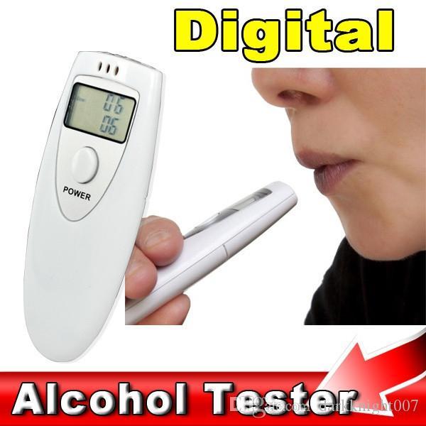 새로운 휴대용 미니 LCD 디스플레이 디지털 알코올 숨 테스터 전문 음주 측정기 알코올 측정기 탐지기 무료 배송 DHL